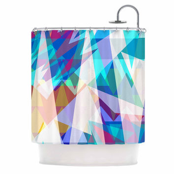 "Miranda Mol ""Triangle Party"" Multicolor Shower Curtain"