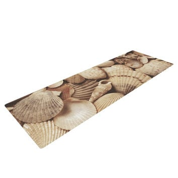 "Heidi Jennings ""Shells"" Brown Yoga Mat"