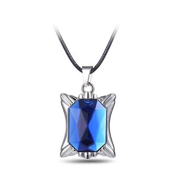 Black Butler Ciel Blue Crystal Anime Necklace