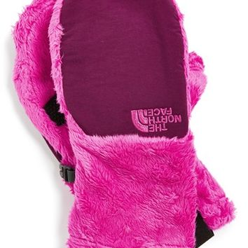 The North Face Girl's 'Denali' Thermal Mittens, Size Medium - Pink