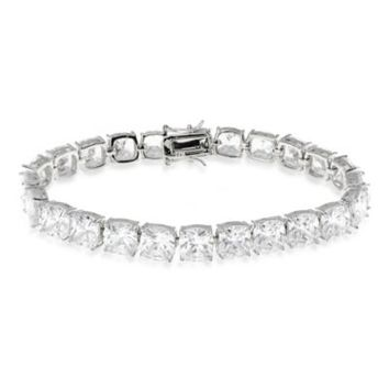 CZ by Kenneth Jay Lane Cubic Zirconia Tennis Bracelet