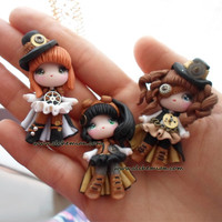 1 Steampunk lolita doll ooak necklace made in by AlchemianShop