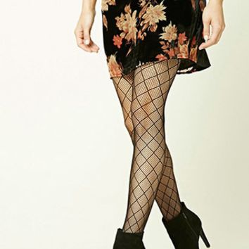 Diamond Mesh Tights