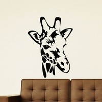 Wall Decal Vinyl Sticker Wild Animal Giraffe Decor Sb464