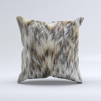 Furry Animal  Ink-Fuzed Decorative Throw Pillow