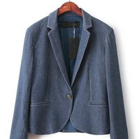 Blue Wash Soft Knitted Blazer