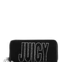 Glam Goddess Velour Zip Wallet by Juicy Couture