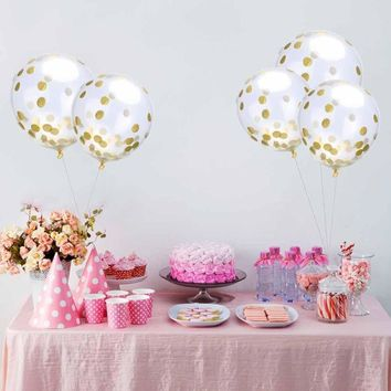 Clear  Sequins  Confetti  Balloons  Helium  Balloons