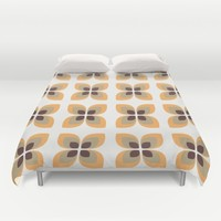 1970's Flowers Duvet Cover by Inspired Images
