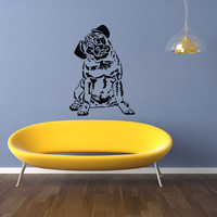 Pug Dog Puppy Breed Pet Animal Family Wall Sticker Decal Mural 2860