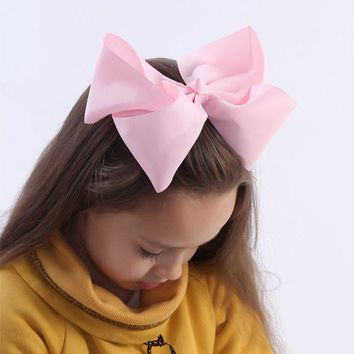 10 pcs lot 3 inch Grosgrain Ribbon 8 inch Big Hair Bow Boutique Hair Bow For Girls Hair Bow With Clip