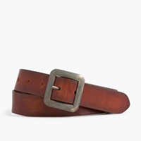 Center bar Italian leather belt
