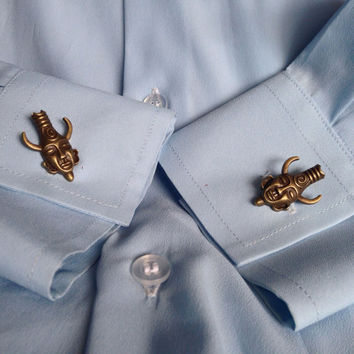 Egyptian God Amulet Cuff Links Inspired by Supernatural