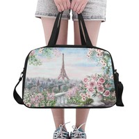 Paris Eiffel Tower Weekend Travel Bag