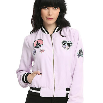 Disney The Little Mermaid Patched Girls Bomber Jacket