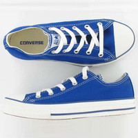 """Converse"" Fashion Canvas Flats Sneakers Sport Shoes Low tops Sapphire blue"