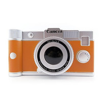 Orange Retro-Style Camera Piggy Bank