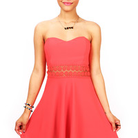 Daylight Embroidered Dress | Skater Dresses at Pink Ice