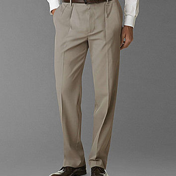 Dockers Prestige Khaki D3 Classic Fit Pleated Pants - Dockers Khaki