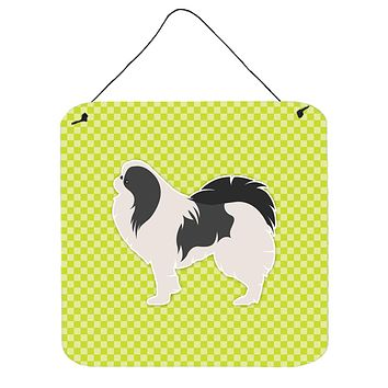 Japanese Chin Checkerboard Green Wall or Door Hanging Prints BB3837DS66