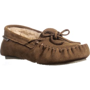 Bearpaw Ashlyn Slip-On Lined Loafer Moccasins, Hickory, 5 US / 36 EU