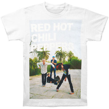 Red Hot Chili Peppers Men's  Drop Out T-shirt White Rockabilia