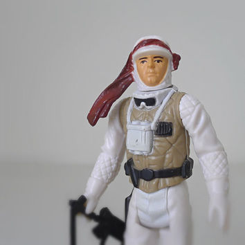 Vintage Star Wars Action Figure, Luke Skywalker Hoth Gear, 1980s Kenner - Empire Strikes Back, Jedi, classic toy, galaxy, sci fi