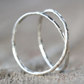 Infinity Ring - Hand Forged - Hand Hammered - Silver Infinity Ring - Roots Jewelry - Bohemian Chic - Gift for Her - Unique Jewelry