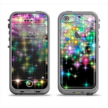 The Multicolored Glistening Lights Apple iPhone 5c LifeProof Fre Case Skin Set