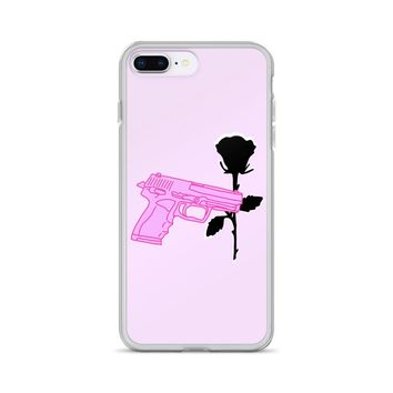 Pistol and Rose iPhone Case