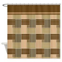 Brown Abstract Line Pattern Shower Curtains> Shower Curtains> We Tees You