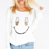 SOFT SERVE FACE CREW NECK SWEATER