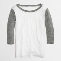 Factory colorblock linen baseball tee - Knits & Tees - FactoryWomen's New Arrivals - J.Crew Factory