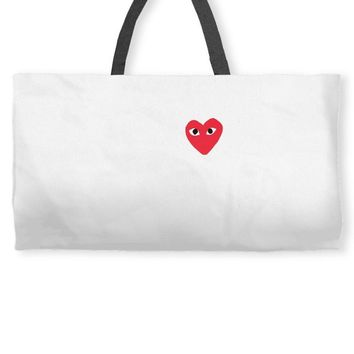 comme des garcons play Weekender Totes