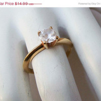Spring Fashion Sale Vintage Gold Engagement Style Ring Size 7