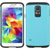 DW Dotted Hybrid Air Defender Case for Galaxy S5 - Teal Blue/Black