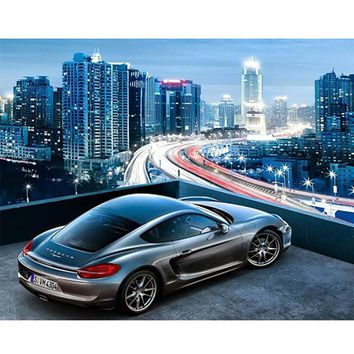 DIY PBN Arcylic Painting Sports Car Pictures By Numbers On Canvas Framed Wall Pictures Art For Living Room Home Decoration