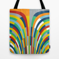 Rainbow Bricks #2 Tote Bag by Project M