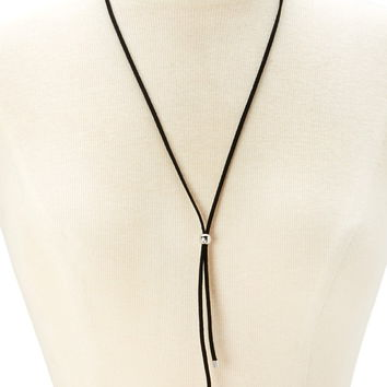 Beaded Faux Suede Bolo Tie | Forever 21 - 1000176457