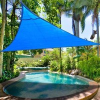 Windscreen4less 12' x 12' x 12' Sun Shade Sail Canopy Blue - 3rd Generation - Commercial Grade - 5 Years Warranty (Custom Size Available)