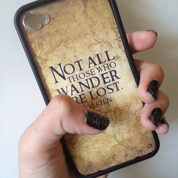 J.R.R. Tolkien Case iPhone 44s Lord Of The by BluWatermelonDesigns