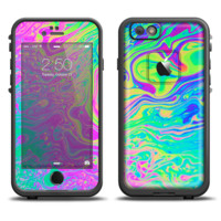 The Neon Color Fushion Apple iPhone 6 LifeProof Fre Case Skin Set