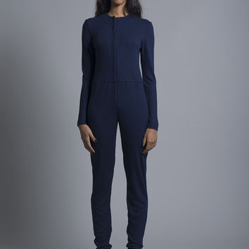 Navy Long Overalls