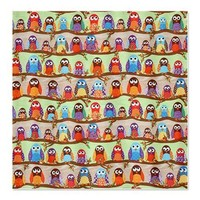 Funky Classic Owls Shower Curtain on CafePress.com