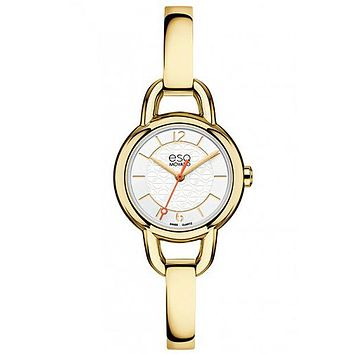 ESQ Movado Status Bangle-Style Ladies Watch - White Dial - Gold-Tone Design