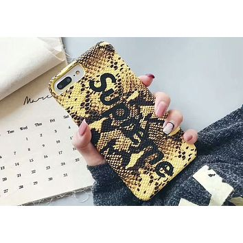 Supreme 2018 New Tide brand Fashion Colorful Beautiful iPhone 6/7/8/X Mobile Shell Cover 5