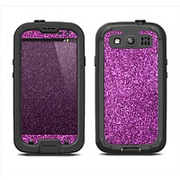 The Purple Glitter Ultra Metallic Samsung Galaxy S3 LifeProof Fre Case Skin Set