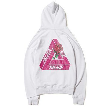 Palace Skateboard Rose Hoodies Sweatshirt Jackets Men Women Tracksuit Hip Hop Streetwear Pullover Oversized Harajuku Brand Winter Coat 2017