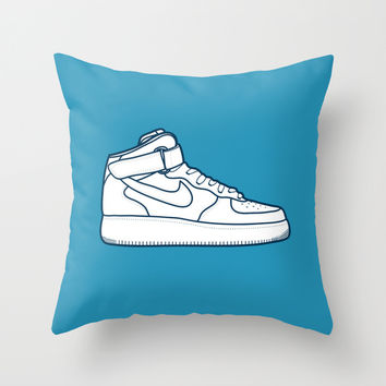#13 Nike Airforce 1 Throw Pillow by Brownjames Prints