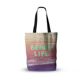 "Alison Coxon ""Beach Life"" Pink Coastal Everything Tote Bag"